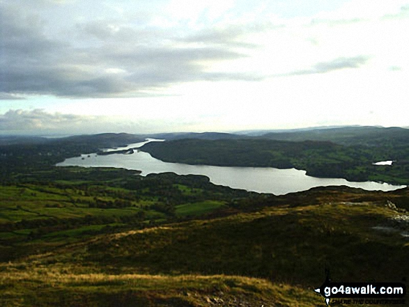 Windermere (with Blenham Tarn far right) from Baystones (Wansfell)