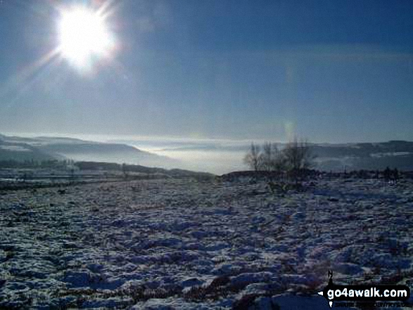 Hathersage Valley from Over Owler Tor, Hasthersage Moor in the snow