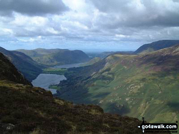 Buttermere from Honister Crag, Fleetwith Pike