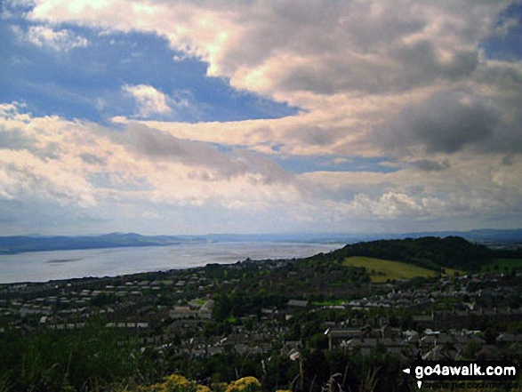 The view from the top of The Dundee Law Hill
