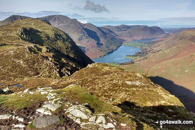 Fleetwith Pike and Buttermere from Honister Crag (Black Star)
