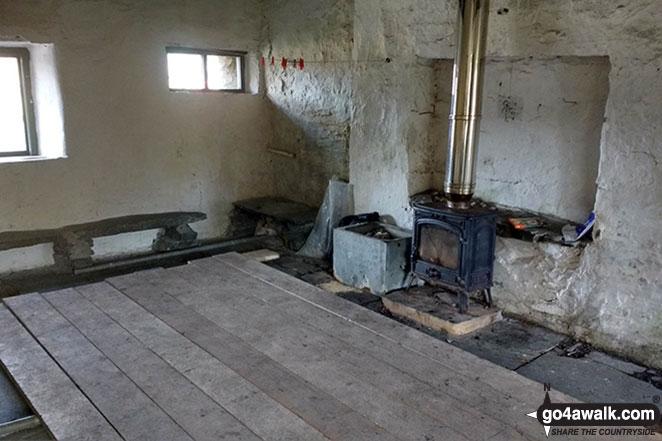 Inside Dubs Hut Bothy