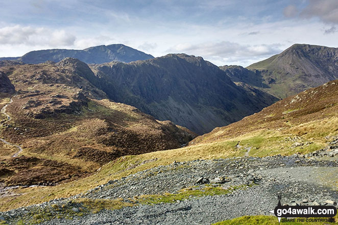 Looking stead (Pillar) & Pillar behind Green Crag (Buttermere) & Hay Stacks (Haystacks) with High Crag (Buttermere) (right) from near Dubs Quarry