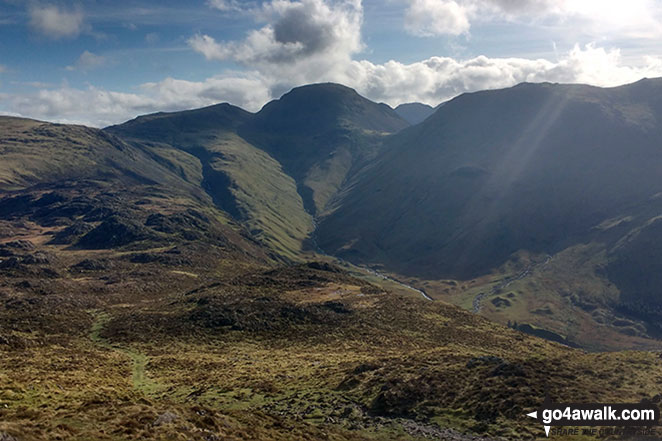 Green Gable, Great Gable and Kirk Fell from Innominate Tarn