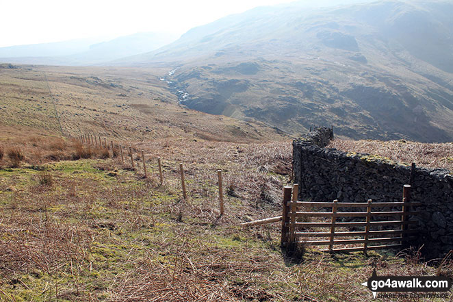 Hingeless Gate offering access to Mosedale near Fewling Stones