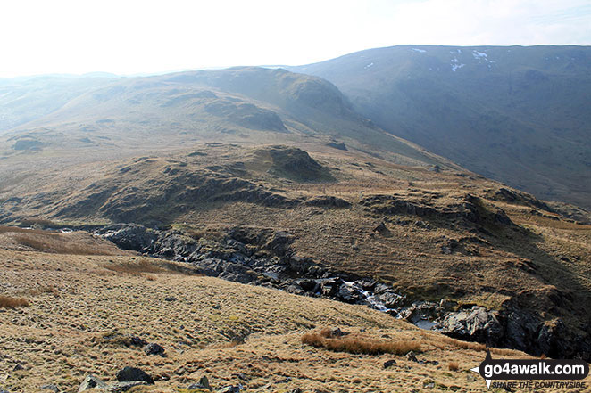 Nabs Moor and Nabs Crag with Branstree (Artlecrag Pike) (on the horizon right) from Fewling Stones