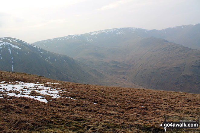 Harter Fell (Mardale) (left) and High Street from Branstree (Artlecrag Pike)