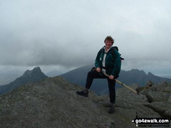 Me on North Goat Fell walk Isle of Arran North Ayrshire Scotland walks