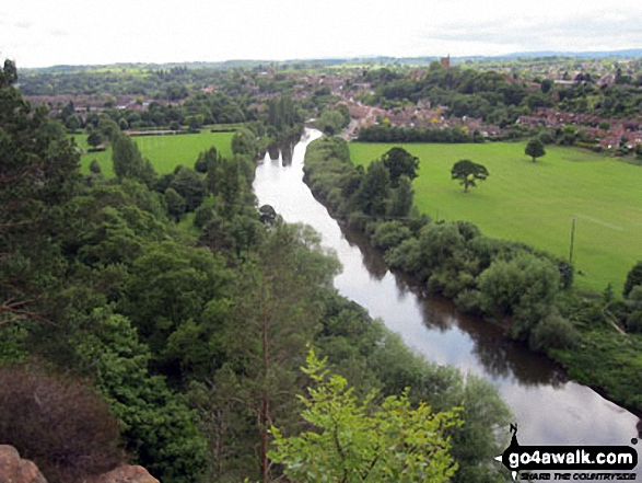 Bridgnorth and The River Severn from High Rock
