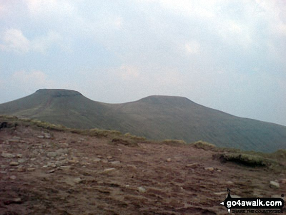 Pen y Fan and Corn Du from Bwlch Duwynt