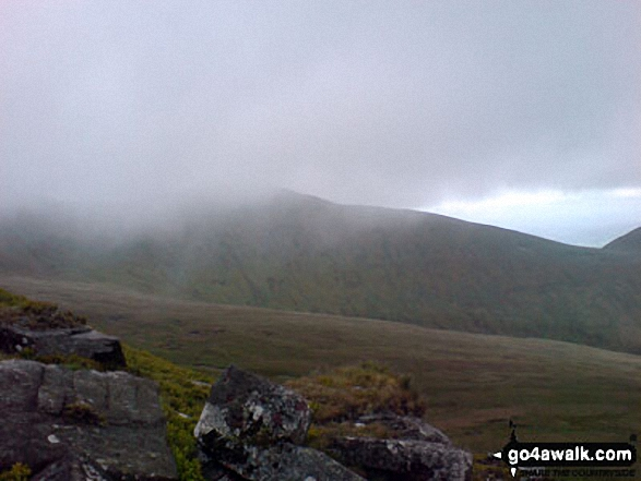 Fog closing in on Pen y Fan