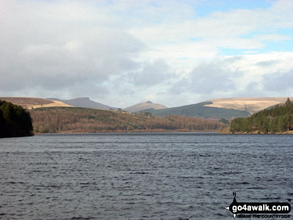 Corn Du and Pen y Fan (centre left) and Cribyn (centre) from Neuadd Reservoir