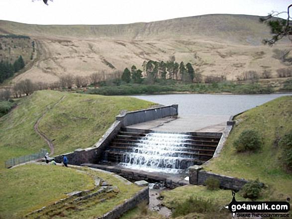 Cribyn, Pen y Fan and Corn Du from Lower Neuadd Reservoir