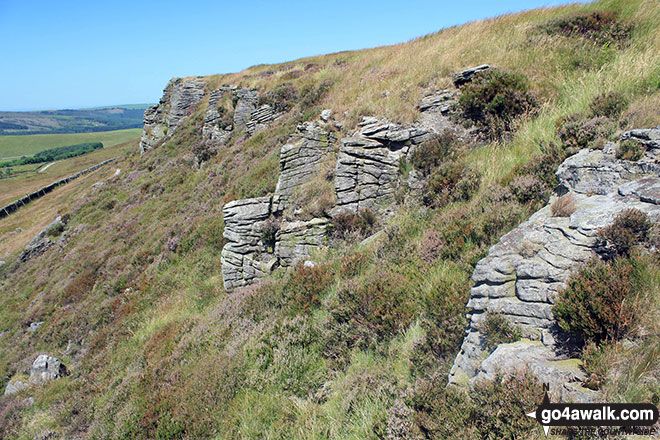 Rock formations on Combs Head (Combs Moss)