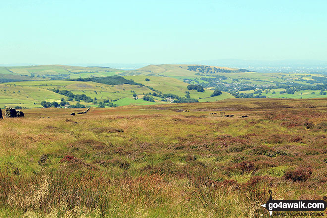 Looking East across the Peak Dale valley from Black Edge (Combs Moss)