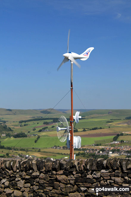 Weather station on Black Edge (Combs Moss)