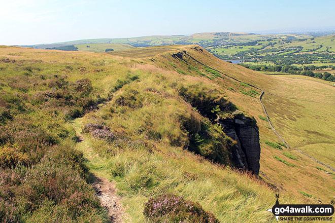 The path along Black Edge (Combs Moss)