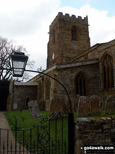 Walk no104 Watford and The Jurassic Way from West Haddon - Watford Church<br>(of Watford Gap Services fame)