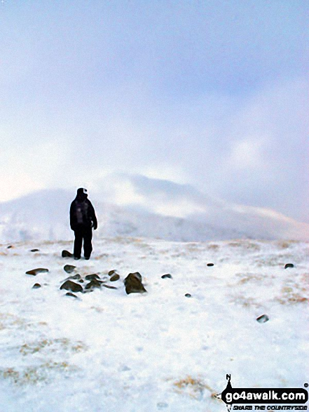 On Meall nan Tarmachan in the snow