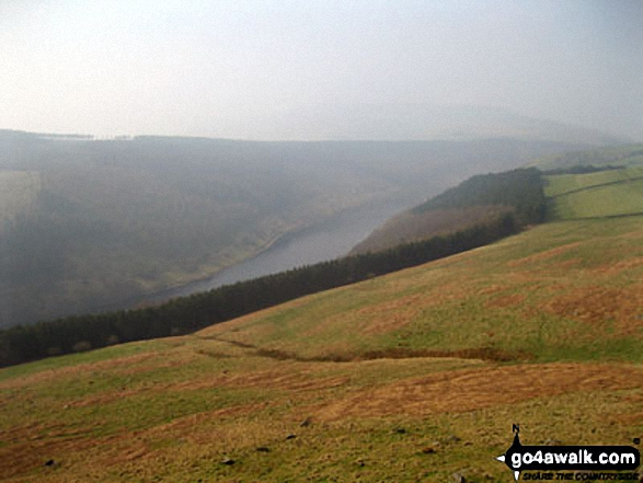 Ladybower Reservoir and the lower slopes of Win Hill from Crook Hill (Ladybower)