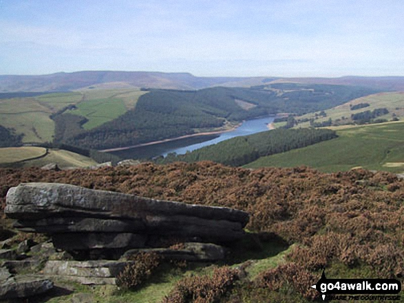 Ladybower Reservoir from Derwent Edge