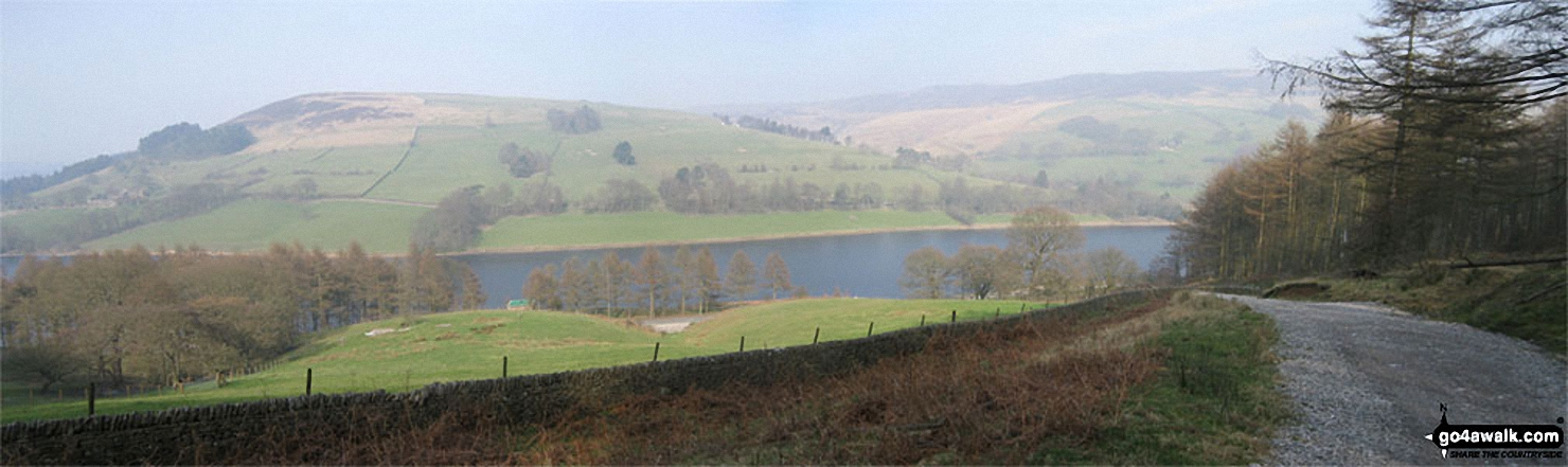 Pike Low above Ladybower Reservoir from Hagg Side Woods