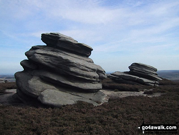 The Cakes of Bread (Boulder), Derwent Edge