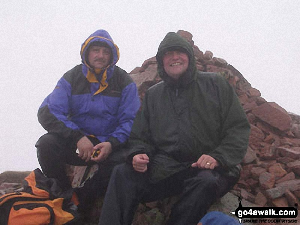 Me and my friend Stewart on Carn Mor Dearg