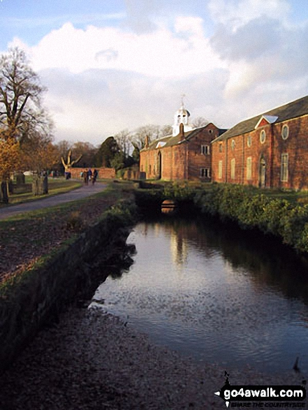 Dunham Massey Park. Walk route map ch102 Dunham Massey and The Bridgewater Canal from Lymm photo