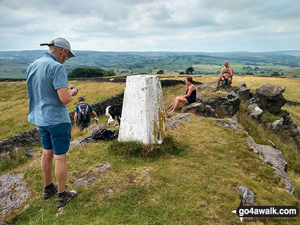 Sheen Hill summit Trig Point