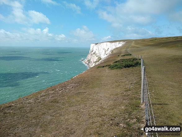 Highdown Cliffs from Tennyson Down