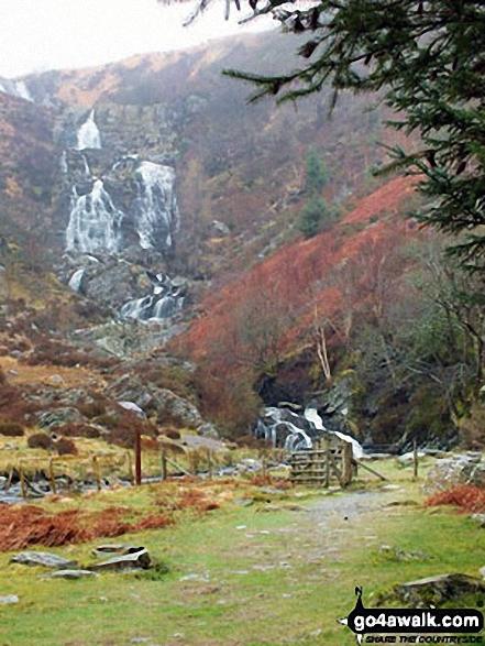 Rhiwargor Falls (Pistyll Rhyd-y-meinciau) on Afon Eiddew near Lake Vyrnwy