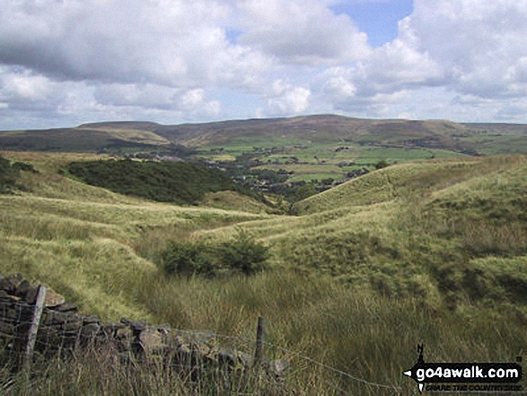 Looking East to Hail Storm Hill from Bull Hill (Holcombe Moor). Walk route map gm156 Bull Hill and Peel Monument from Holcombe photo