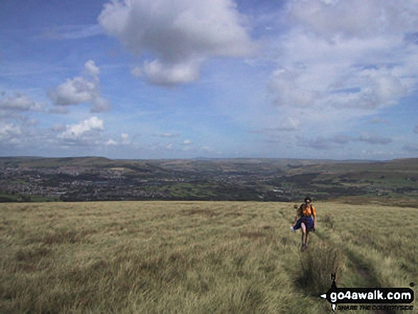 Walk Picture/View: Ascending Bull Hill (Holcombe Moor) in Greater Manchester, England by Bill Mickleson (3)