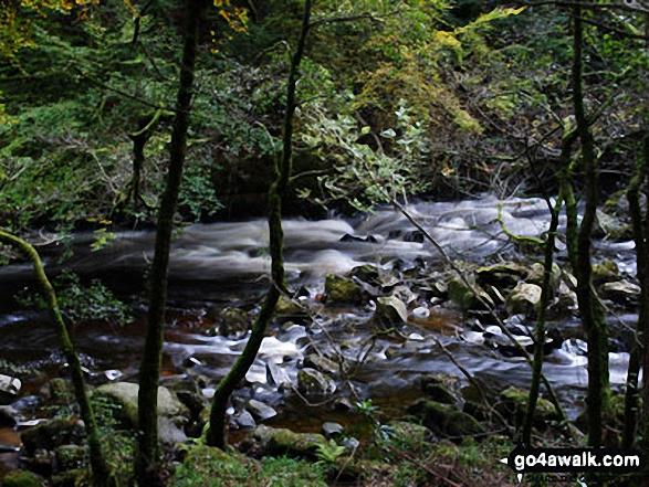 The River Braan near Ossian Hall, near Dunkeld