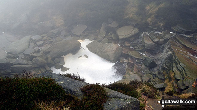 Caldron on a misty Kinder Scout