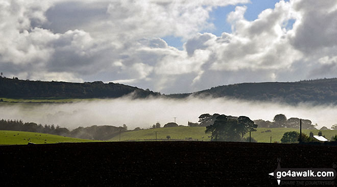 Coate Moor above a cloud inversion near Roseberry Topping