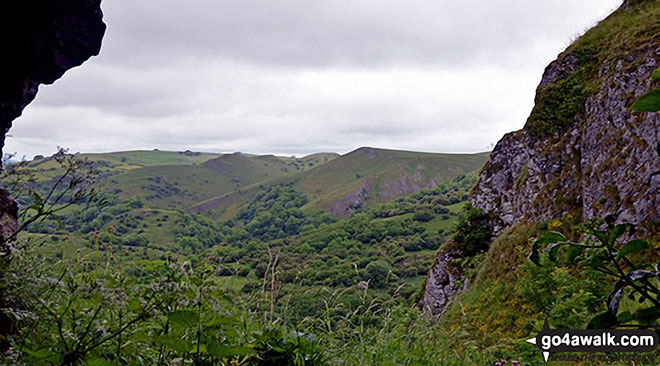 The Manifold Valley from Thor's Cave. Walk route map s238 Manifold Valley, Ilam, Dove Dale, Milldale, Alstonefield and Wetton from Weag's Bridge photo