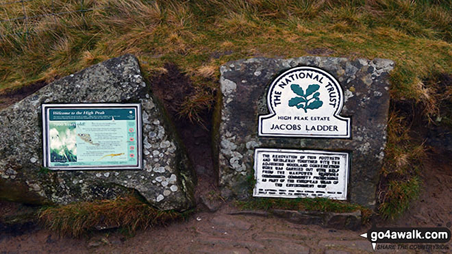 National Trust plaque at the bottom of Jacob's Ladder