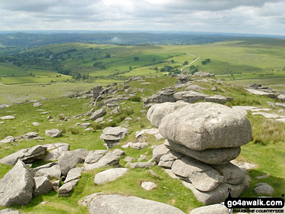 Walk de122 North Hessary Tor, Great Mis Tor and Great Staple Tor from Princetown - Merrivale from Great Staple Tor