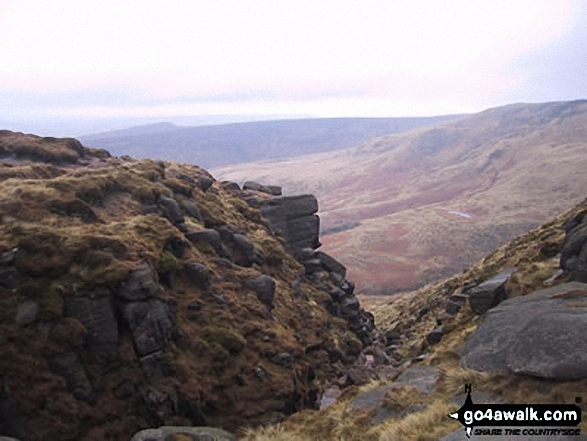 Looking Down Red Brook from Kinder Scout