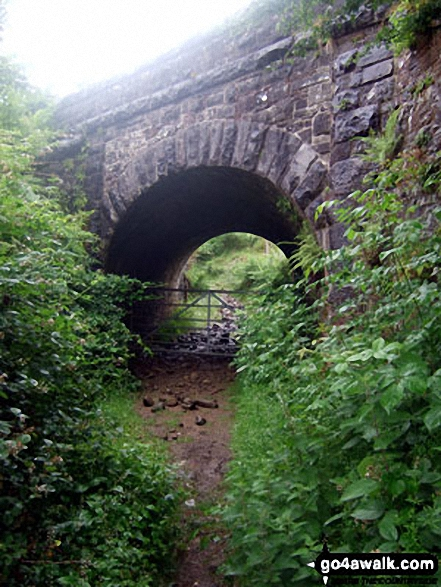 Railway Bridge spanning the path up Cefn yr Ystrad from Pontsticill Reservoir