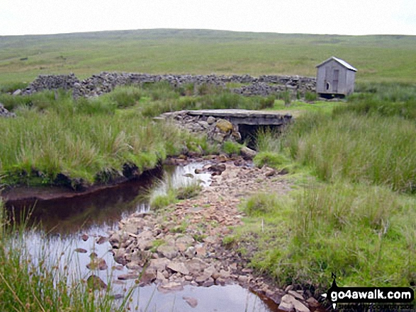 Stonesdale Beck near Tan Hill. Walk route map ny145 Tan Hill and Robert's Seat from Keld photo