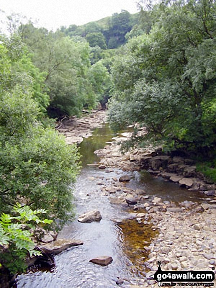 The River Swale from the bridge at Keld
