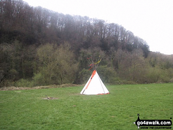 Wigwam in the Biblins Campground by The River Wye