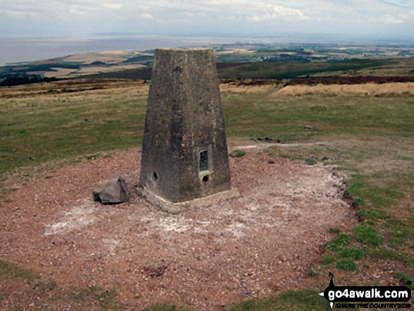 Beacon Hill (Quantocks) summit Pillar