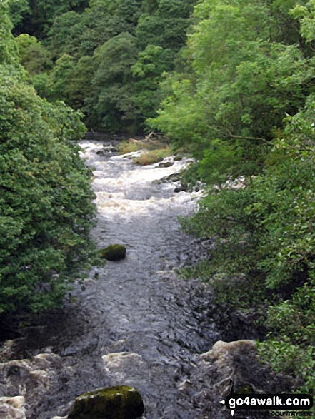 The River Greta from the dismantled railway line North East of Keswick