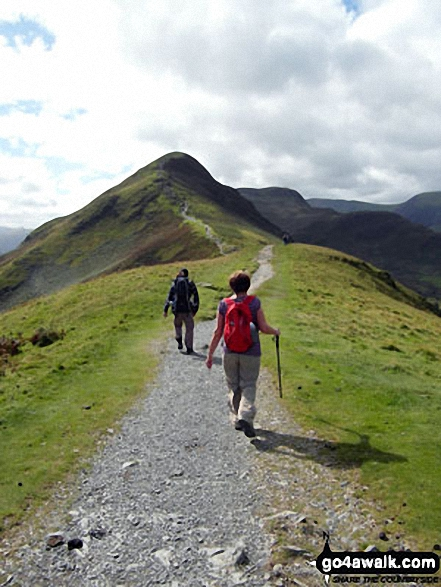 On Skelgill Bank approaching the summit of Cat Bells (Catbells)