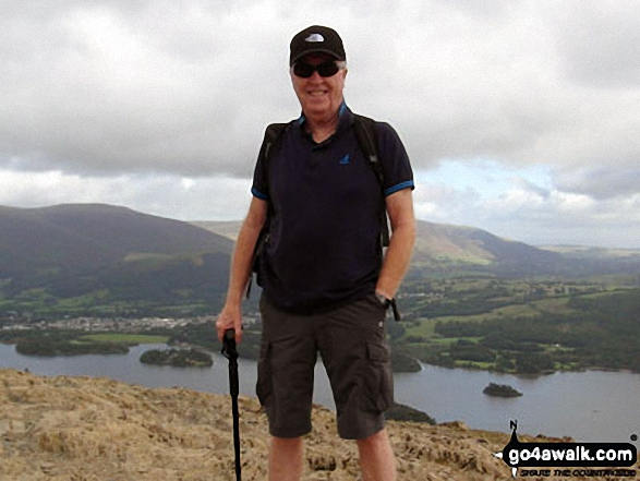 On Cat Bells (Catbells) with Derwent Water in the background. Walk route map c399 Cat Bells and Derwent Water from Keswick photo