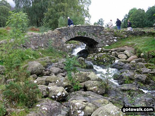 Ashness Bridge. Walk route map c201 Ashness Bridge and Walla Crag from Keswick photo